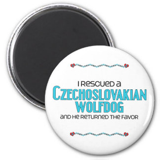 I Rescued a Czechoslovakian Wolfdog (Male Dog) 2 Inch Round Magnet