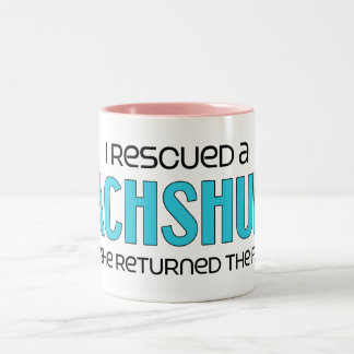 I Rescued a Dachshund (Female Dog) Two-Tone Coffee Mug