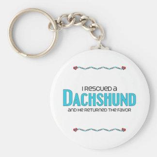 I Rescued a Dachshund (Male Dog) Basic Round Button Keychain