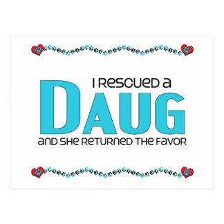 I Rescued a Daug (Female) Dog Adoption Design Postcard