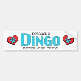 I Rescued a Dingo (Male Dog) Bumper Sticker