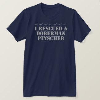 I Rescued a Doberman Pinscher Dark T-Shirt