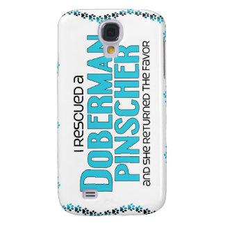 I Rescued a Doberman Pinscher (Female Dog) Samsung Galaxy S4 Case