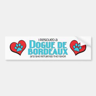 I Rescued a Dogue de Bordeaux (Female Dog) Bumper Sticker