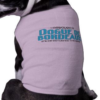 I Rescued a Dogue de Bordeaux (Male Dog) T-Shirt