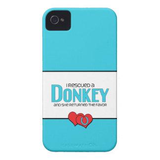I Rescued a Donkey (Female Donkey) Case-Mate iPhone 4 Cases