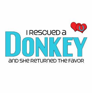 I Rescued a Donkey (Female Donkey) Photo Cutout