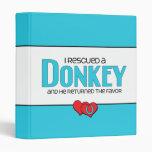 I Rescued a Donkey (Male Donkey) Binders