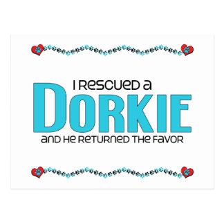 I Rescued a Dorkie (Male) Dog Adoption Design Postcards