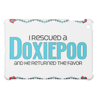I Rescued a Doxiepoo (Male) Dog Adoption Design Cover For The iPad Mini