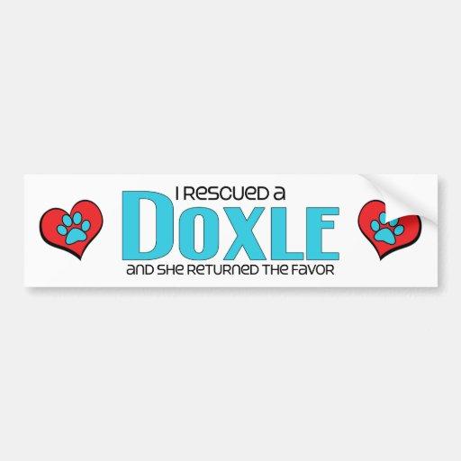 I Rescued a Doxle (Female) Dog Adoption Design Bumper Sticker