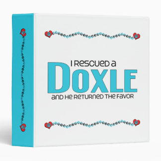 I Rescued a Doxle (Male) Dog Adoption Design Binders