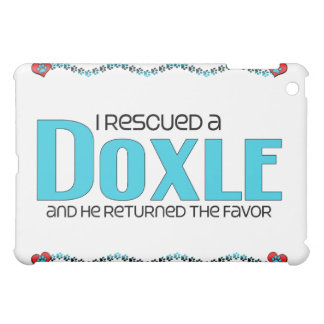 I Rescued a Doxle (Male) Dog Adoption Design iPad Mini Case
