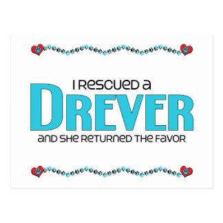 I Rescued a Drever (Female Dog) Postcard