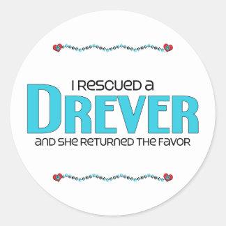 I Rescued a Drever (Female Dog) Sticker