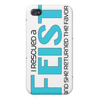 I Rescued a Feist (Female Dog) iPhone 4 Case