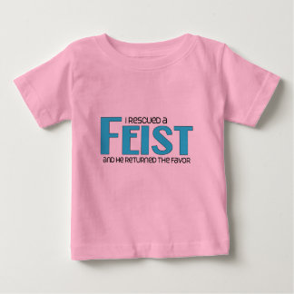 I Rescued a Feist (Male Dog) Baby T-Shirt