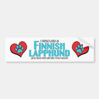I Rescued a Finnish Lapphund (Female Dog) Bumper Sticker