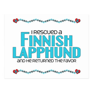 I Rescued a Finnish Lapphund (Male Dog) Postcard