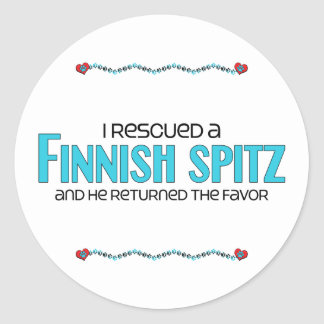 I Rescued a Finnish Spitz (Male Dog) Sticker