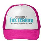 I Rescued a Fox Terrier (Female Dog) Mesh Hat