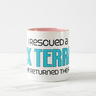 I Rescued a Fox Terrier (Male Dog) Coffee Mugs