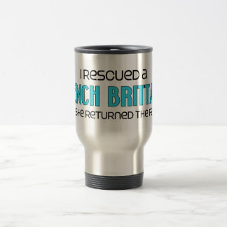 I Rescued a French Brittany (Female Dog) 15 Oz Stainless Steel Travel Mug