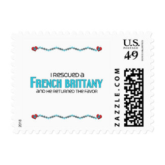 I Rescued a French Brittany (Male Dog) Stamps