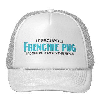 I Rescued a Frenchie Pug (Female) Dog Adoption Hats