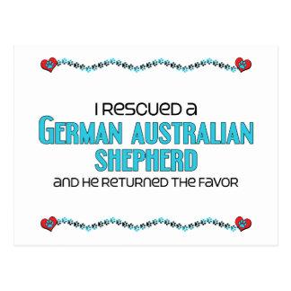 I Rescued a German Australian Shepherd (Male Dog) Postcard