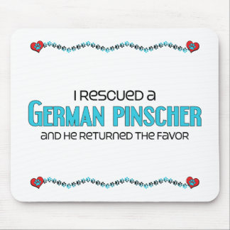 I Rescued a German Pinscher (Male Dog) Mouse Pad