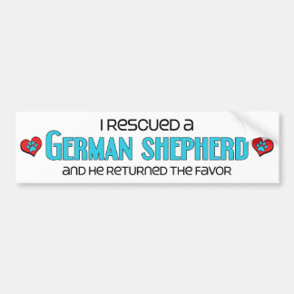 I Rescued a German Shepherd (Male Dog) Bumper Sticker