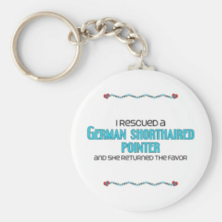I Rescued a German Shorthaired Pointer (Female) Basic Round Button Keychain