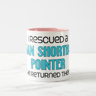 I Rescued a German Shorthaired Pointer (Female) Two-Tone Coffee Mug