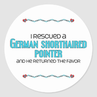 I Rescued a German Shorthaired Pointer (Male Dog) Classic Round Sticker