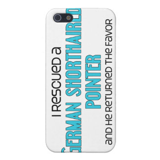 I Rescued a German Shorthaired Pointer (Male Dog) iPhone 5 Cover