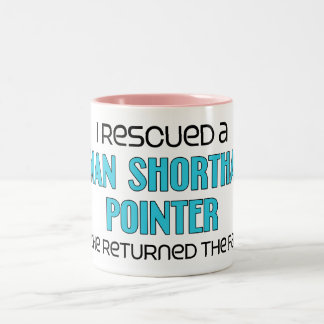I Rescued a German Shorthaired Pointer (Male Dog) Two-Tone Coffee Mug