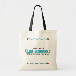 I Rescued a Giant Schnoodle (Male) Dog Adoption Canvas Bags