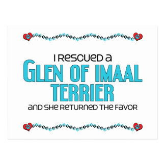 I Rescued a Glen of Imaal Terrier (Female Dog) Postcard