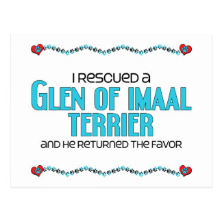 I Rescued a Glen of Imaal Terrier (Male Dog) Postcard