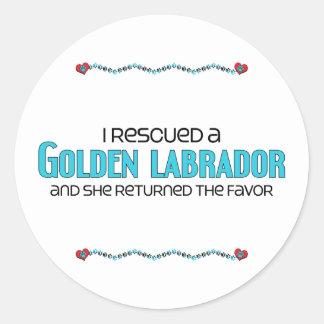 I Rescued a Golden Labrador (Female) Dog Adoption Classic Round Sticker