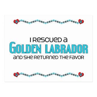 I Rescued a Golden Labrador (Female) Dog Adoption Postcard
