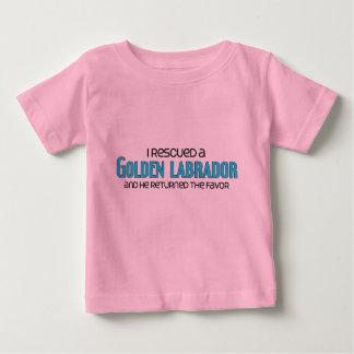 I Rescued a Golden Labrador (Male) Dog Adoption Baby T-Shirt