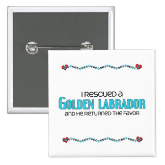 I Rescued a Golden Labrador (Male) Dog Adoption Buttons