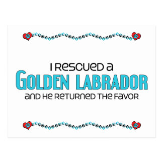 I Rescued a Golden Labrador (Male) Dog Adoption Postcard