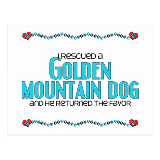 I Rescued a Golden Mountain Dog (Male Dog) Postcard