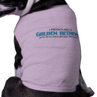I Rescued a Golden Retriever (Female Dog) Doggie T-shirt