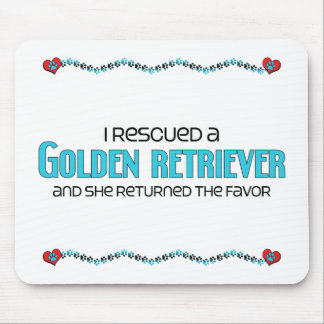 I Rescued a Golden Retriever (Female Dog) Mouse Pad