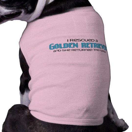 I Rescued a Golden Retriever (Female Dog) T-Shirt