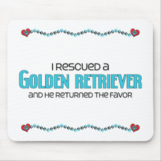 I Rescued a Golden Retriever (Male Dog) Mouse Pad